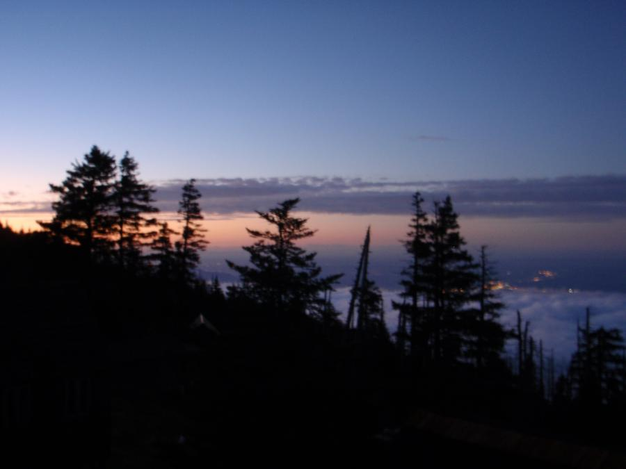 Evening view from Mt. LeConte Lodge
